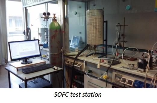 SOFC test station